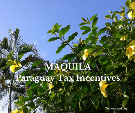 Maquila Paragauy Reexport Tax Incentive