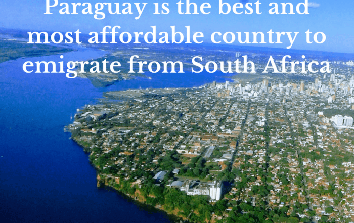 Paraguay is the best country to emigrate from South Africa