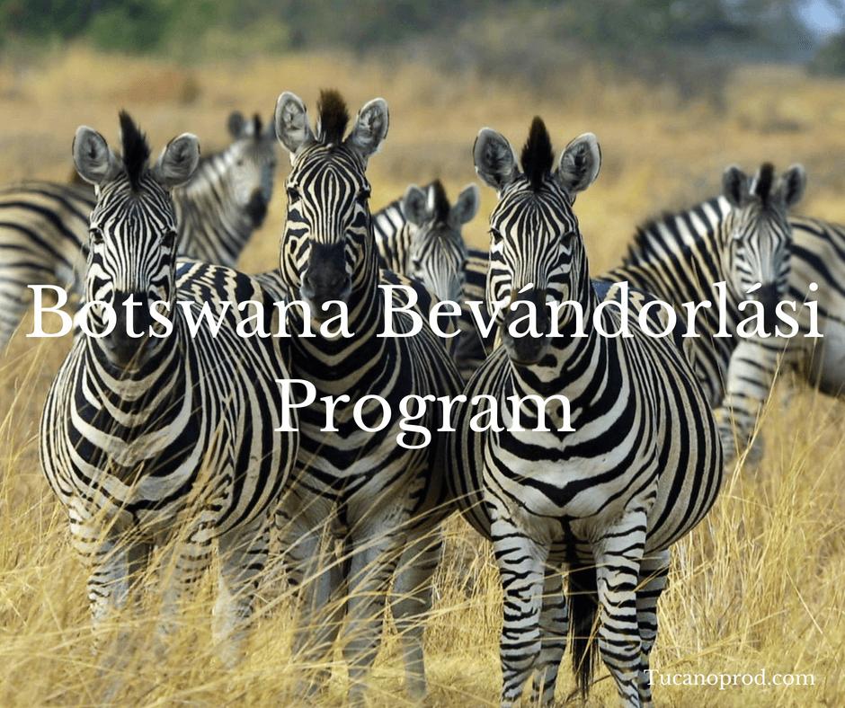 Botswana bevándorlási program befektetőknek