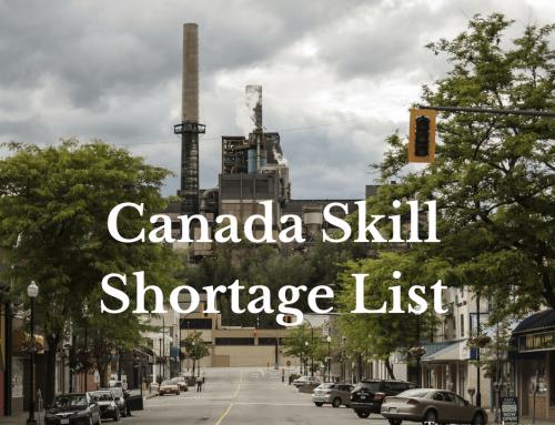 Canada Skill Shortage List 2018