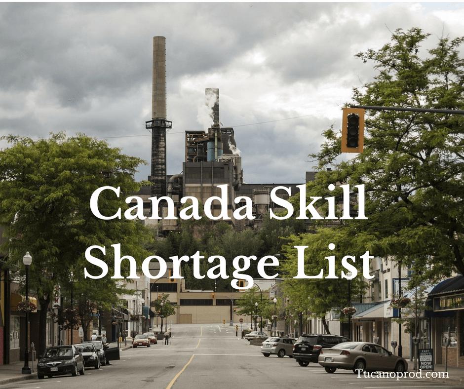 Canada Skill Shortage List