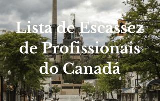 Lista de Escassez de Profissionais do Canadá