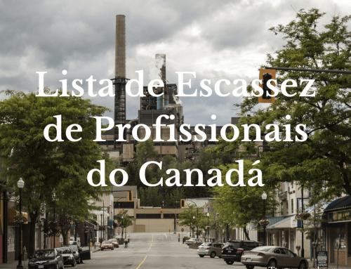 Lista de Escassez de Profissionais do Canadá em 2018