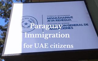 Paraguay immigration passport for EUA citizens