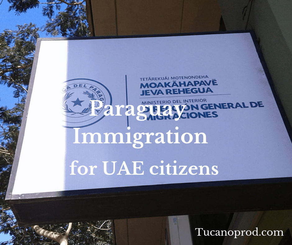 Paraguay immigration passport for EUA citizens