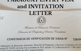 Paraguay entry visa and invitation letter