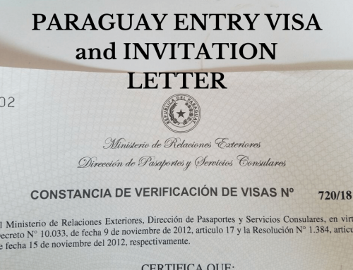 How to get Paraguay visa through invitation letter?