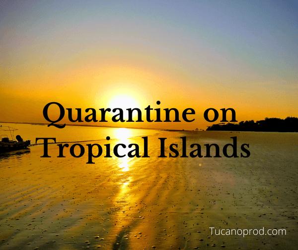 Coronavirus Tropical Island